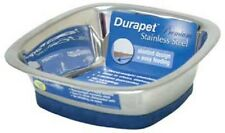 Durapet Premium STAINLESS STEEL SQUARE BOWL DOG CAT FEEDER Small 17 oz