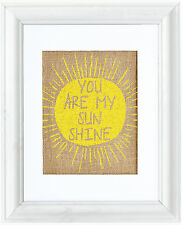 Fiber & Water 'You are my Sunshine' Framed Graphic Art