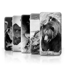 "STUFF4 Phone Case/Back Cover for Alcatel Pop 4+ (5.5"") /Mono Zoo Animals"