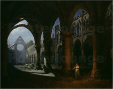 Poster / Leinwandbild Interior of an Abbey in Ruins - H. Sebron