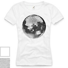 Diskokugel T-Shirt Damen party house techno discokugel club musik club 70er 80er