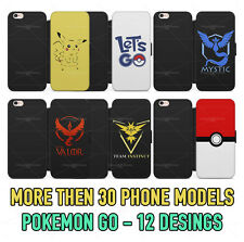 Pokemon Pokeball Pikachu Leather Wallet/Flip Phone Case Cover for iPhone Samsung