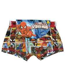 SPIDER MAN  OFFICIAL BOYS KIDS  BOXER FITTED SHORTS 2-8y