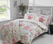 Oriental Pink Patchwork Floral Printed Single Double King Bed Duvet Cover Set