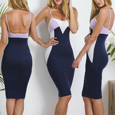 Sexy Damen Bandage Bodycon Cocktailkleid Party Abend Mini Kleider Gr.34 36 38 40