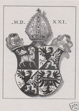 EX LIBRIS BOOKPLATE Emblem of the Bishop of Bressanone