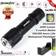 Tactical 4000LM CREE XM-L T6 LED 18650 Flashlight 5Mode Torch Light TaschenLampe