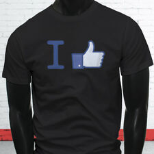 Thumbs Up Likes Followers Views Subscribe I Like Facebook Mens Black T-Shirt