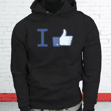 Thumbs Up Likes Followers Subscribe I Like Facebook Mens Black Hoodie