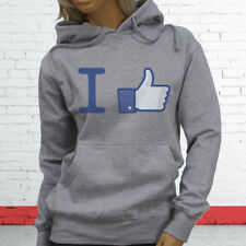 Thumbs Likes Followers Subscribe Views I Like Facebook Womens Gray Hoodie