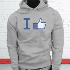 Thumbs Up Likes Followers Subscribe I Like Facebook Mens Gray Hoodie