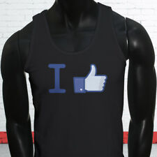 Thumbs Up Likes Followers Views Subscribe I Like Facebook Mens Black Tank Top