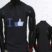 Thumbs Likes Followers Subscribe I Like Facebook Mens Black Sports Tank Top