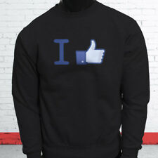 Thumbs Up Likes Followers Views Subscribe I Like Facebook Mens Black Sweatshirt