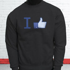 Thumbs Up Likes Followers Subscribe I Like Facebook Mens Charcoal Sweatshirt