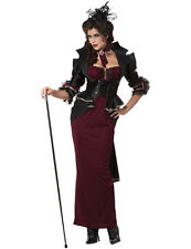 Victorian Lady Halloween Costume Sexy Ladies Gothic Vampiress Fancy Dress Outfit