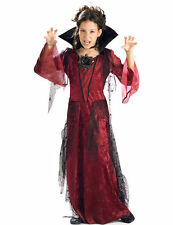 Child Girls Gothic Vampiress Vampire Vamp Halloween Fancy Dress Costume