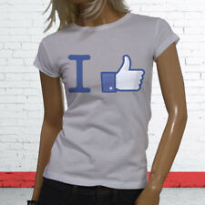 Thumbs Likes Followers Subscribe Views I Like Facebook Womens White T-Shirt