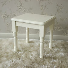 Cream wooden dressing table stool shabby vintage chic ornate bedroom furniture