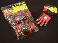 SIMPSONS STUNT SCOOTER BMX CYCLE SKATE SAFETY KNEE/ELBOW PADS & GLOVE SET