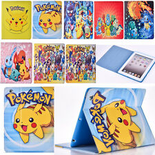 Pokemon Go Boys Pikachu Leather Stand Case Cover for iPad mini 2 iPad 2 iPad Air