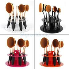 Oval Toothbrush Makeup Brush Stand Rack Holder Eye Shadow Pen Storage 6/10 Hole