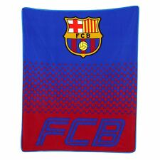 FC BARCELONA FADE FLEECE BLANKET KIDS OFFICIAL FOOTBALL BLANKET MACHINE WASHABLE
