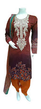 DW40MA Ready Made Stitched Salwar Kameez Dress Pakistani Indian Asian Lawn Suit