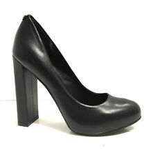 SCARPE DONNA DECOLLETE  GUESS TC 120 LARGO PELLE NERO MOD MAXSIE D17GU24