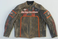 Harley Davidson Men's Half Mile Perforated Leather Jacket 97074-11VM 2XL Rare