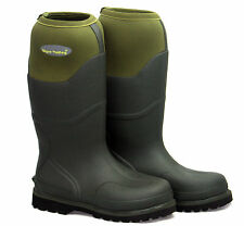 Wyre Valley Trent Mens Green Wellington Mucker Wellies Stable Boots