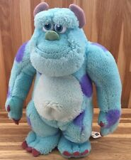 "DISNEY PIXAR MONSTERS INC - SULLEY - 8"" Soft Toy - HASBRO - JAMES P SULLIVAN VGC"