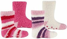 Tick Tock Baby Girls 2 Pack Cosy Socks with Grippers