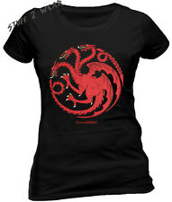 Game Of Thrones Targaryen Sigil T Shirt Distressed Ladies OFFICIAL HBO Merch
