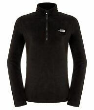 The North Face Fleece Pullover Women W 100 Glacier 1/4 Zip, TNF Black