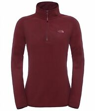 The North Face Fleece Pullover Women W 100 Glacier 1/4 Zip, Deep Garnet Red