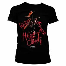 Official Womens Nightmare On Elm Street Here I Come Fitted T-Shirt - Horror