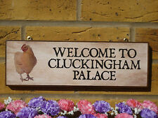 MADE TO ORDER CLUCKINGHAM PALACE SIGN FUNNY CHICKEN SIGN PERSONALISED HEN SIGNS