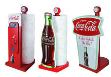Coca Cola/Coke Shaped Wooden Kitchen Roll Holder/Stand - New Official In Box