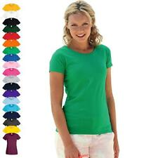 FRUIT OF THE LOOM - Lady-Fit Valueweight T-Shirt - Gr. XS S M L XL XXL