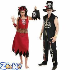 Couples Idea - Mens Ladies Witch Doctor Halloween Fancy Dress