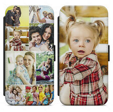 PERSONALISED SINGLE OR COLLAGE PHOTO PRINTED LEATHER FLIP WALLET CASE COVER