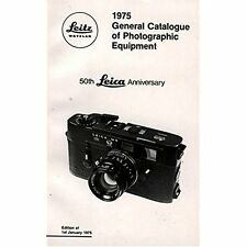 1975 General Catalogue of Photographic Equipment: 50th Leica Anniversary Ernst L