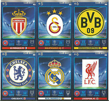 CHAMPIONS LEAGUE 14/15 ADRENALYN XL CLUB BADGES PICK THE CARDS YOU NEED