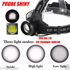 5000LM Cree XM-L T6 LED Rechargeable 18650 Headlamp Headlight Torch USB Lampen