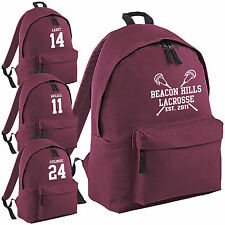 Beacon Hills Lacrosse Backpack - Teen Wolf Stilinski McCall School College Bag
