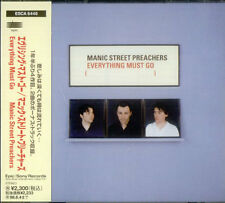 Everything Must Go Manic Street Preachers Japanese CD album (CDLP) ESCA-6446
