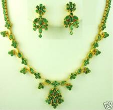 FULL EMERALD MARQUISE NECKLACE EARRINGS + A FREE GIFT