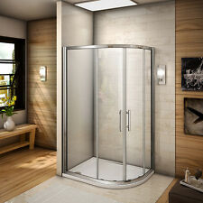 Offset quadrant / pivot corner entry shower enclosure 6mm glass screen cubicle