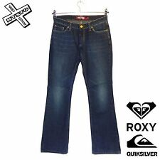 QUIKSILVER ROXY 'SMOOTH OPERATOR' WOMENS JEANS VINTAGE BLUE UK 8 10 BNWT RRP £62